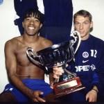 Trophée des Champions 1998 à Tours, avec Laurent Leroy (photo : Ch. Gavelle - PSG)