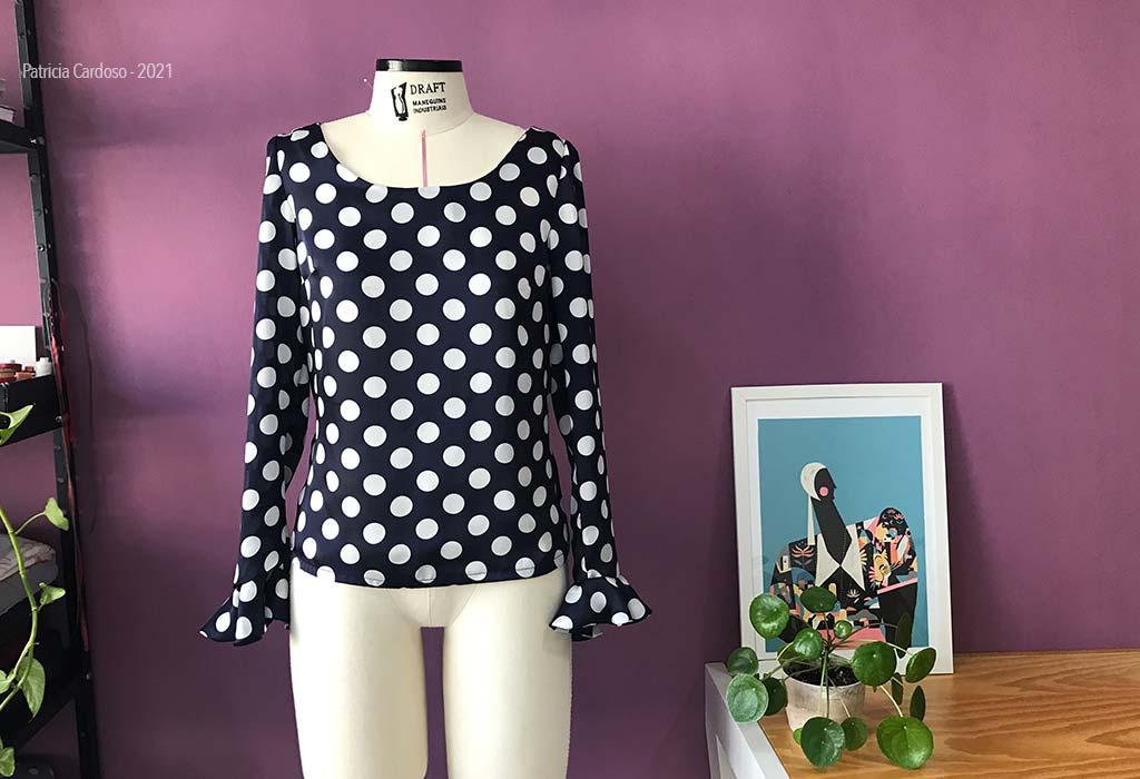 Blusa sob medida   Patricia Cardoso ateliê de costura