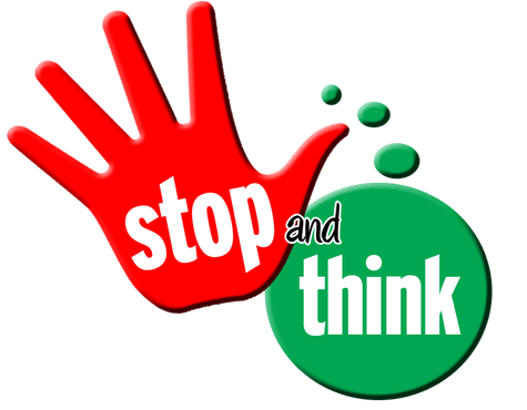 Image result for stop and think clipart