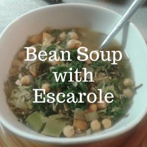 Bean soup with escarole