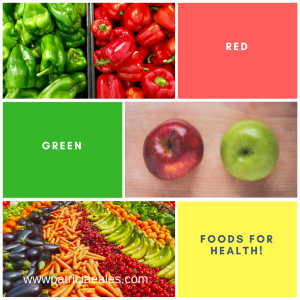 red and green foods