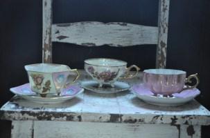 china tea cups with feet