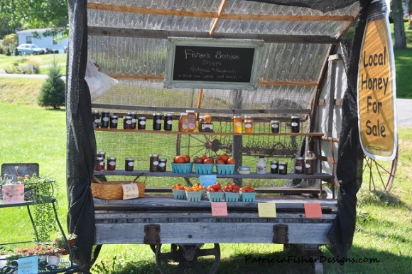 Fisher's Beehive farm cart