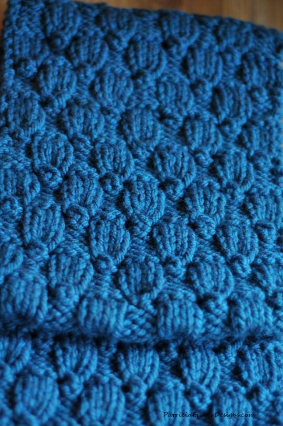 teal bulky scarf