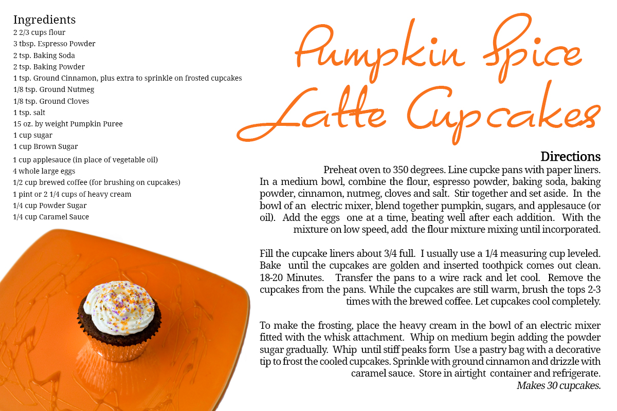 Pumpkin Spice Latte Cupcakes Patricia Knight Photography