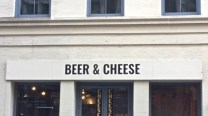 Beer & cheese sign NYC 2017
