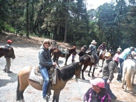 Pam on Horse Mexico 2018