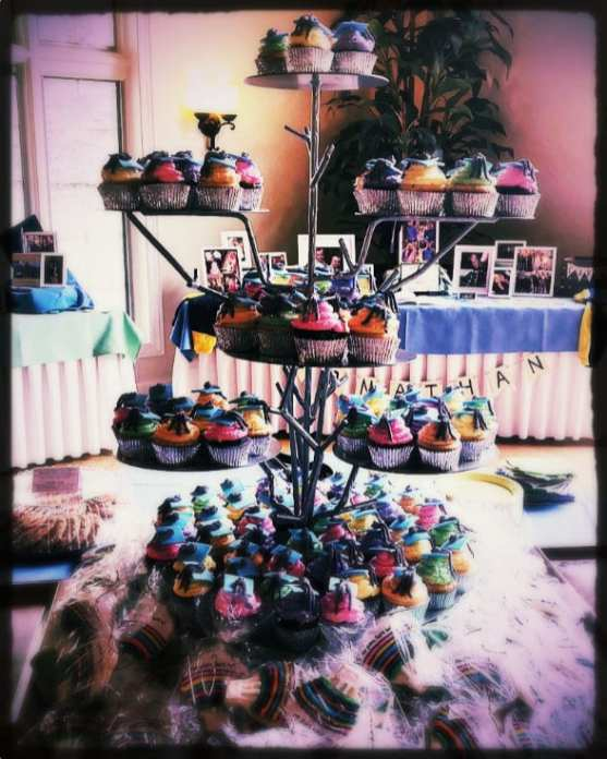 Cupcake stand at catering gig