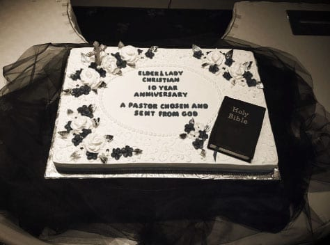 Church celebration cake