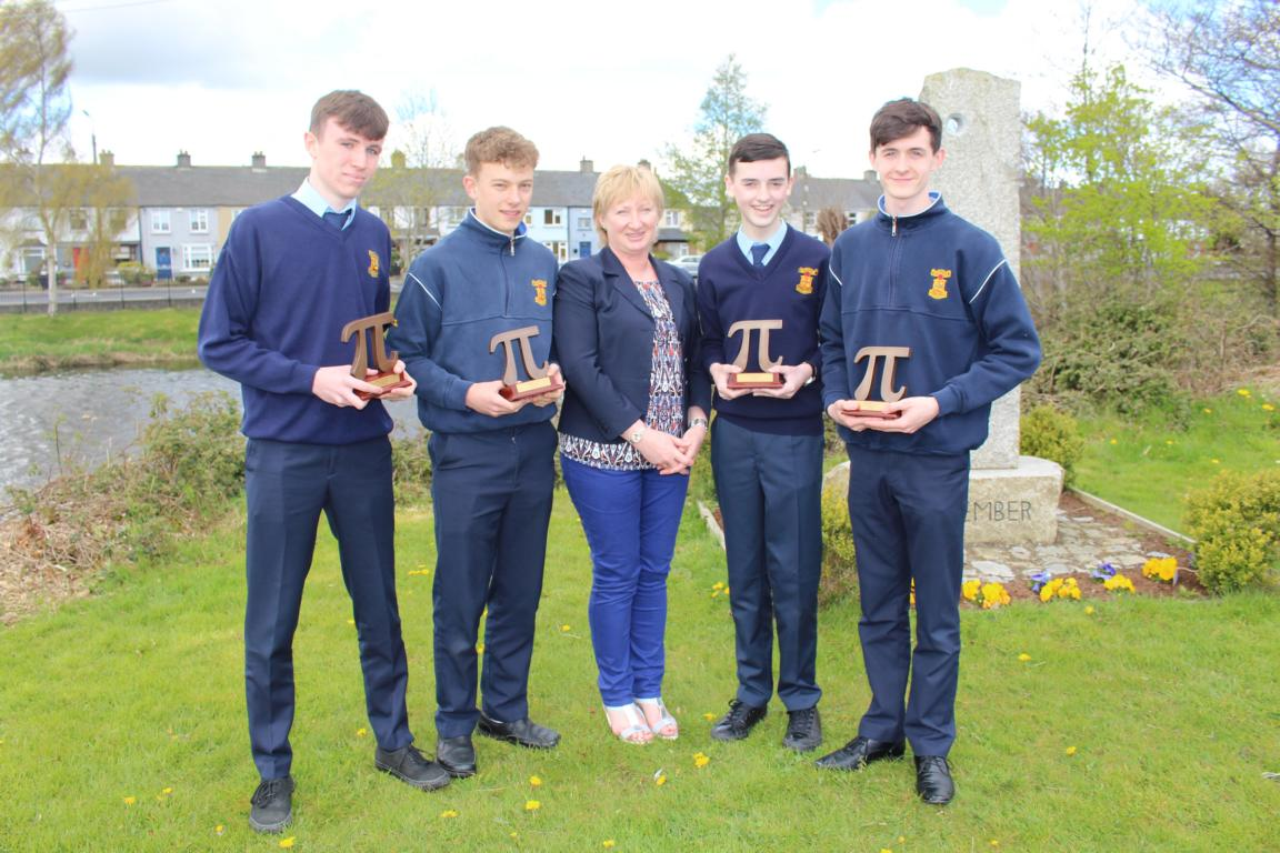 Third Year Maths team win Pi Regional quiz competition