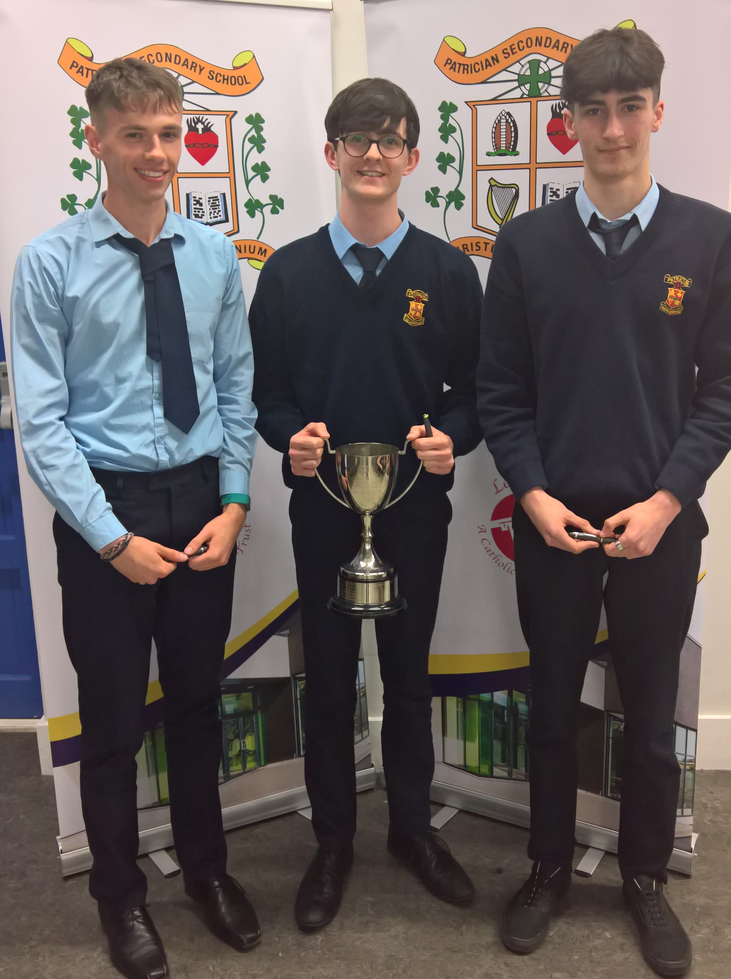 Senior Maths team who finished Midlands winners and All-Ireland runners-up (Mark Glynn, Colin Smyth & Sammy Haddaj) missing from photo is Ed Bennett