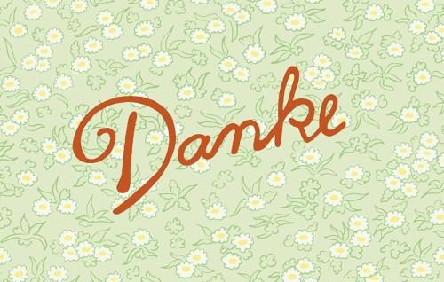 CEWE Postkarte Patricia Oettel Danke