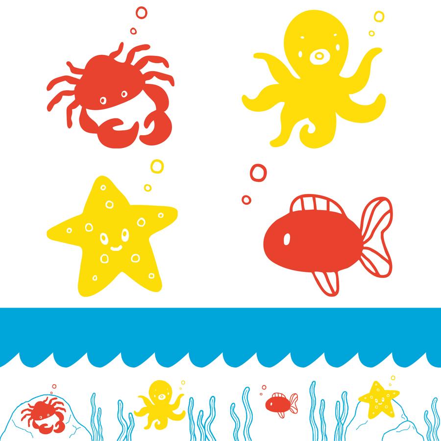Surface Design Unterwasserwelt