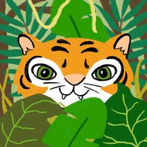 Gesellschaftsspiel Illustration Memorie Memo Spiel Dschungeltiere Tiger