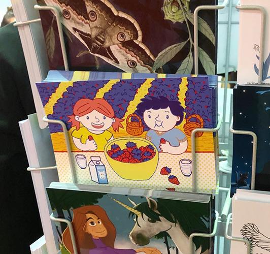 Frankfurter Buchmesse 2019 IO Stand Postkarte Patricia Oettel Illustrator