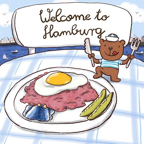 Sympathiefigur Welcome to Hamburg Labskaus und Seebär