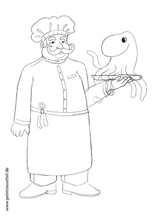 Charakter Figur Design Koch 3 Patricia Oettel
