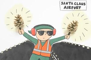 Weihnachten als Geschäft Kreativ Challange Tag 4 Flughafen