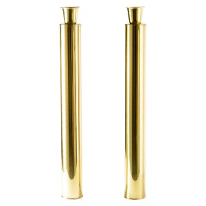 Italian Mid-Century Tall Brass Candlesticks, by Oggetti, A-Pair