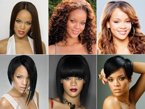rihanna1 - Rihanna e suas Madeixas