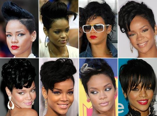 rihanna41 - Rihanna e suas Madeixas