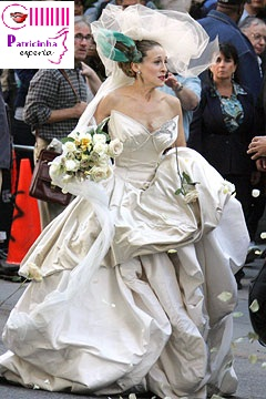 carrie vivienne westwood noiva - Elegantíssima Sarah Jessica Parker X Poderosíssima Carrie Bradshaw