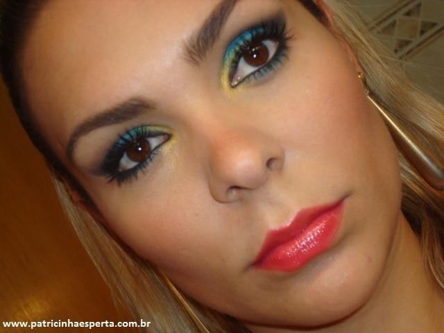 057post2 - Tutorial - Maquiagem Azul e Dourado para Baladas e Festas