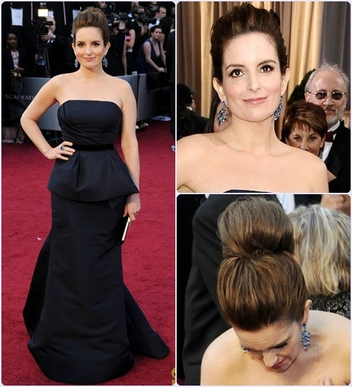 Tina Fey - Os 5 piores looks do Oscar 2012