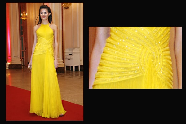 isabeli fontana vestido amarelo - Amarelo da cor do sol...
