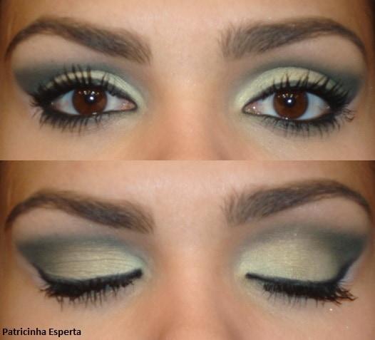 """0111 - Maquiagem Verde Musgo - Paleta """"Coleção Fresh - Avon"""""""