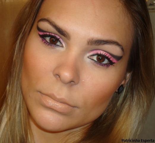 016post - Maquiagem para Balada - Rosa Fluorescente com Rímel Pink