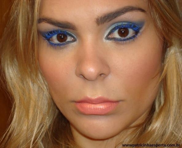 021post - Maquiagem para noite com rímel azul