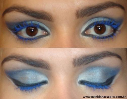031post - Maquiagem para noite com rímel azul