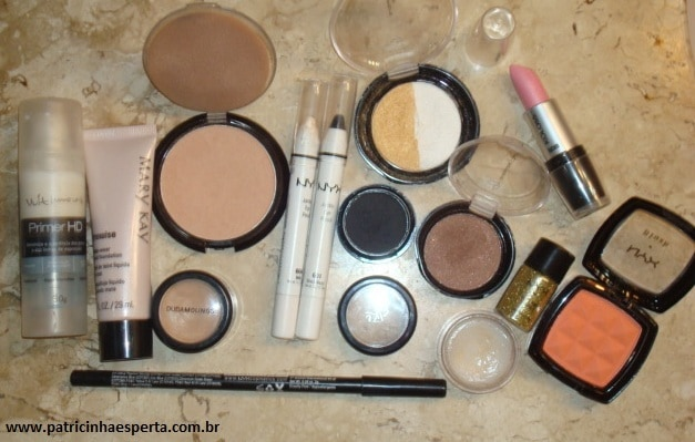 074post - Tutorial - Maquiagem Dourada e Preta com Branco para Festas