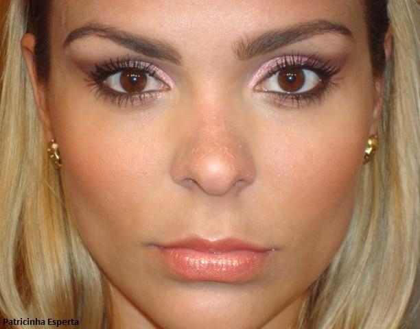 017post1 - Maquiagem 3D para o dia - Goiaba e Rosa com Marrom
