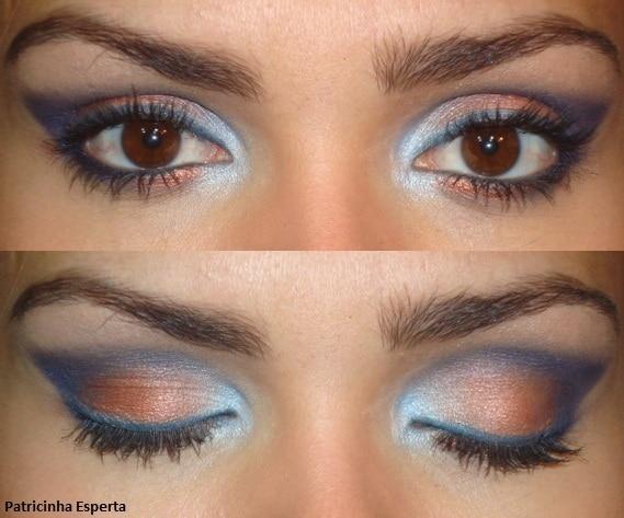 021post - Tutorial - Maquiagem Azul e Cobre