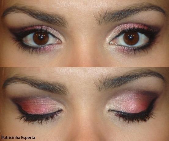 036post - Maquiagem vermelho cereja e vinho