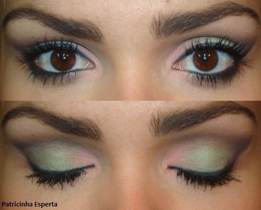 059 - Maquiagem Coral e Verde Menta