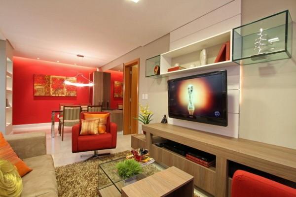 Sala Integrada 6 - Cores fortes na decoração