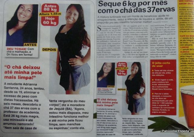 2012 06 19 - Leitora Emagreceu 28 Kg Com O Chá das 37 Ervas
