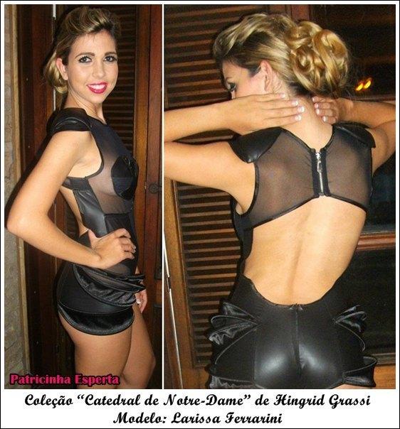 """Larissa costas - Moda Paris – Desfile da Coleção """"Catedral de Notre-Dame"""" de Hingrid Grassi"""