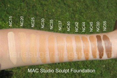 MAC tons de NC Amarelados - Como Maquiar Peles Negras – Exemplos de Bases MAC e Mary Kay