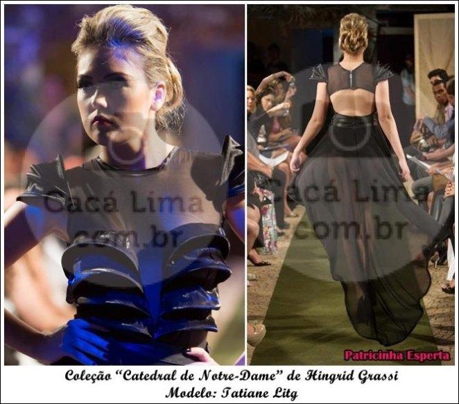 """Tati Frente - Moda Paris – Desfile da Coleção """"Catedral de Notre-Dame"""" de Hingrid Grassi"""