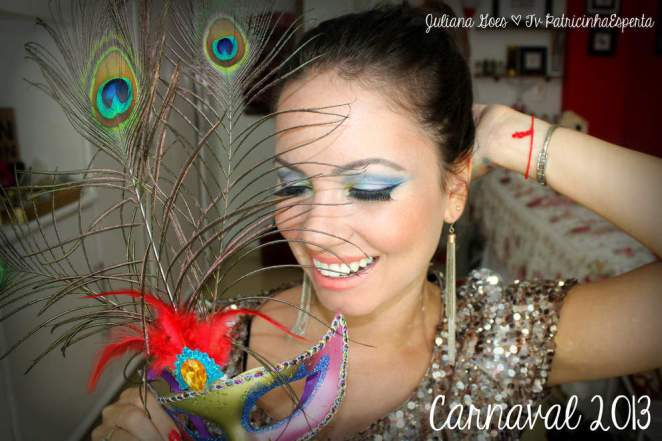 juliana goes carna - Tutorial: Maquiagem Colorida para arrasar no Carnaval