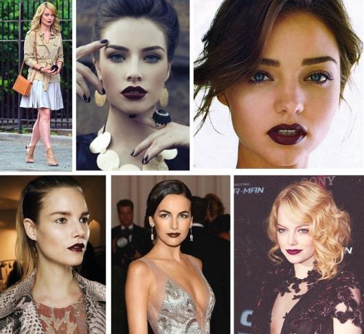 dark lipstick batom vinho 2 - Batom: Conheça as cores que vão colorir sua boca no inverno!