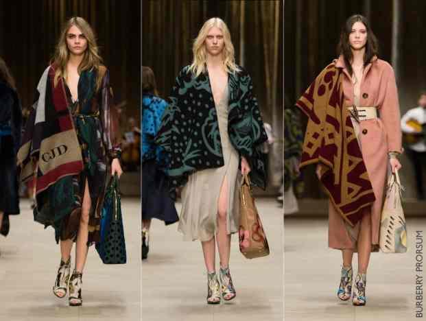 Burberry Prorsum desfile inverno 2015 aw1415 poncho cobertor manta blog moda curitiba - Street Style: Guia de estilo de rua