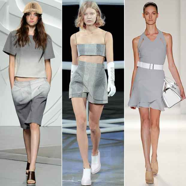 New York Fashion Week Trend Fashion Forecast Grey - Tendências de moda verão 2015