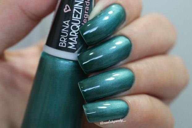 turquesa - Esmalte degradê Bruna Marquezine - cores incríveis