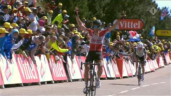 Thomas de Gendt wint op Mont Ventoux