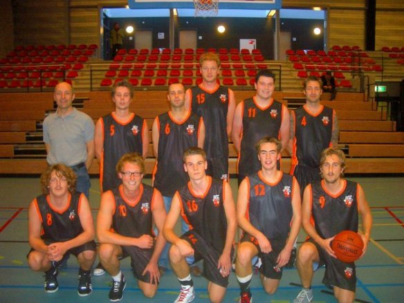 Teamfoto WSC Basketball Heren 1 in 2010